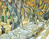 The Large Plane Trees, (Road Menders) Saint Remy 1889 By Vincent van Gogh