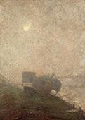 L'Aube Sur La Greve By Leon Pourtau