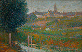 Riverside and Village By Leon Pourtau
