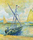 Sailboats 1892 By Leon Pourtau