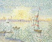 Sunset 1893 By Leon Pourtau