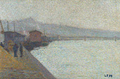 The Banks of The Saone in The Mist By Leon Pourtau