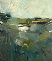 Houses and Hills 1957 By Elmer Bischoff