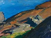 Rocks and Shore By Edward Hopper