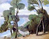 The Beach at Nice, View from the Chateau, 1918 By Henri Matisse