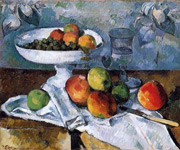 Glass and Apples 1880 By Paul Cezanne