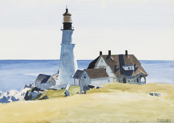 Lighthouse and Buildings 1927 by Edward Hopper | Oil Painting Reproduction Replica On Canvas - Reproduction Gallery