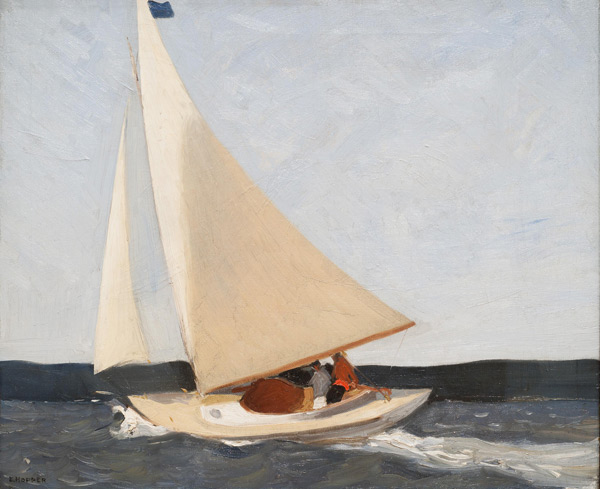 Sailing 1911 by Edward Hopper | Oil Painting Reproduction Replica On Canvas - Reproduction Gallery