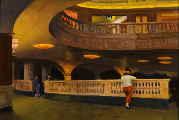 Sheridan Theater 1937 by Edward Hopper | Oil Painting Reproduction Replica On Canvas - Reproduction Gallery