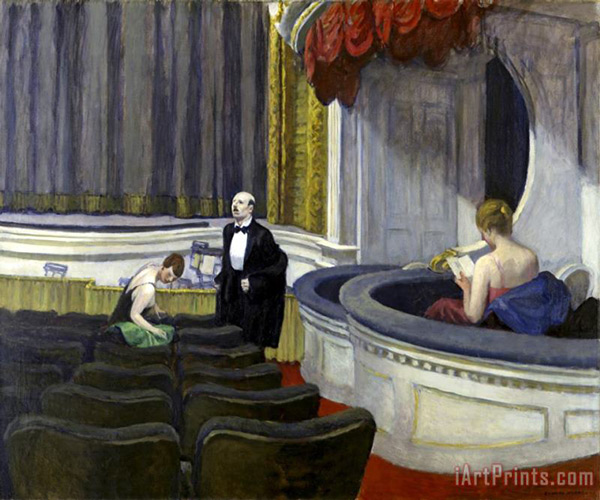 Two on the Aisle 1923 by Edward Hopper | Oil Painting Reproduction Replica On Canvas - Reproduction Gallery