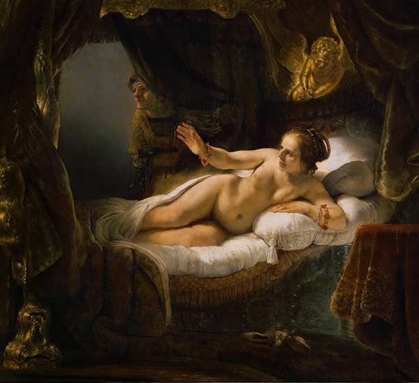 Danae 1636 by Rembrandt Van Rijn | Oil Painting Reproduction Replica On Canvas - Reproduction Gallery
