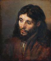 Head of Christ 1648 By Rembrandt Van Rijn