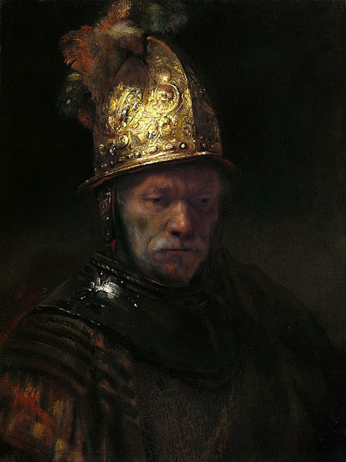 The Man with the Golden Helmet c1650 by Rembrandt Van Rijn | Oil Painting Reproduction Replica On Canvas - Reproduction Gallery