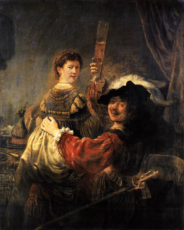 The Prodigal Son in a Brothel by Rembrandt Van Rijn | Oil Painting Reproduction Replica On Canvas - Reproduction Gallery