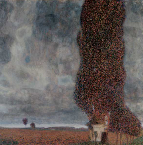 Big Poplar II 1903 by Gustav Klimt   Oil Painting Reproduction Replica On Canvas - Reproduction Gallery