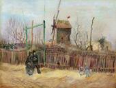 Street Scene Montmarte 1887 By Vincent van Gogh