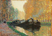 Canal Boat 1908 By Clarence Cagnon