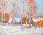 First Snow Baie St Paul c1920 By Clarence Cagnon