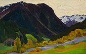 In The Alps 1927 By Clarence Cagnon