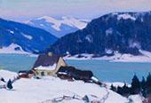 Lac de Charlevoix au Crepuscule c1921 By Clarence Cagnon