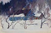 La Maison Bleue Les Eboulements By Clarence Cagnon