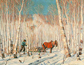 March in The Birch Woods By Clarence Cagnon
