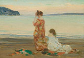 On The Beach of Baie St Paul 1909 By Clarence Cagnon