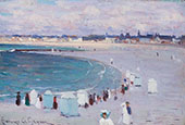 The Beach at St Malo 1908 By Clarence Cagnon