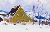 Vieille Maison du Rang St Laurent Baie St Paul 1921 By Clarence Cagnon