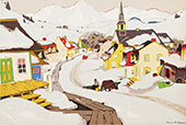 Village in The Laurentians By Clarence Cagnon