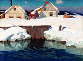 Winter Sun Clarence Gagnon By Clarence Cagnon
