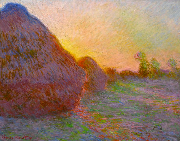 Meules (Haystacks) c1890 by Claude Monet | Oil Painting Reproduction Replica On Canvas - Reproduction Gallery