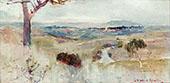 Dandenongs from Heidelberg 1889 By Charles Conder