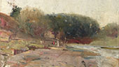 On The River Yarra near Heidelberg Victoria 1890 By Charles Conder