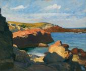 Sea at Ongunquit 1914 By Edward Hopper