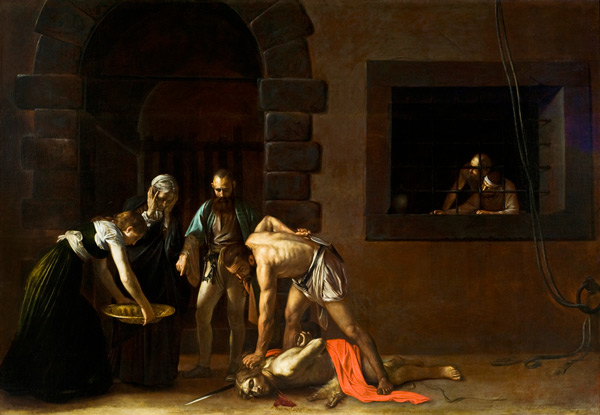 The Beheading of St John the Baptist by Caravaggio | Oil Painting Reproduction Replica On Canvas - Reproduction Gallery