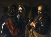 The Denial of St Peter 1610 By Caravaggio