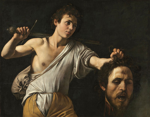 David with the Head of Goliath by Caravaggio   Oil Painting Reproduction Replica On Canvas - Reproduction Gallery