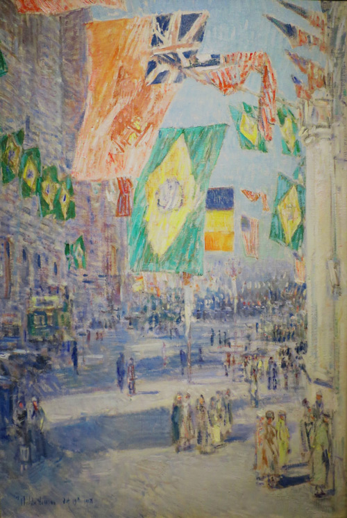 Avenue of the Allies, Brazil, Belgium, 1918 by Childe Hassam | Oil Painting Reproduction Replica On Canvas - Reproduction Gallery