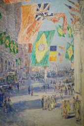 Avenue of the Allies, Brazil, Belgium, 1918 By Childe Hassam