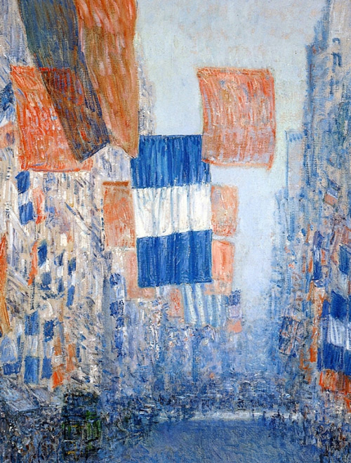 Avenue of the Allies, 1918 by Childe Hassam | Oil Painting Reproduction Replica On Canvas - Reproduction Gallery