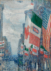 Italian Day, May 1918 By Childe Hassam