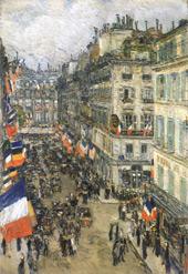 The 14th July Rue Daunou By Childe Hassam