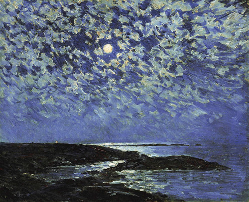 Moonlight, Isle of Shoals by Childe Hassam | Oil Painting Reproduction Replica On Canvas - Reproduction Gallery