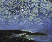 Moonlight, Isle of Shoals By Childe Hassam