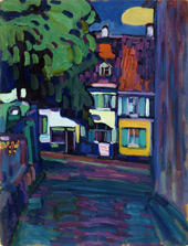 Murnau Houses in the Obermarkt 1908 By Wassily Kandinsky