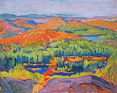 Autumn Colour 1920 By J.E.H. MacDonald