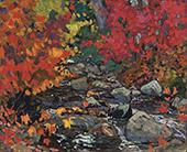 Autumn Leaves Batchewana Algoma c1919 By J.E.H. MacDonald