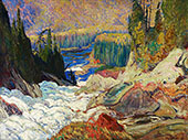 Falls Mountreal River By J.E.H. MacDonald