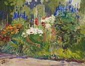 Flower Border Usher Farm York Mills By J.E.H. MacDonald